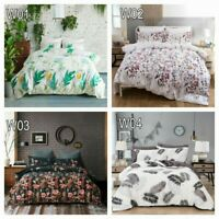 Lightweight Soft Microfiber Duvet Cover Set, Floral , 3-Piece Set,King Queen Bed