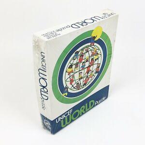 """RARE Vintage UNICEF World Circle Puzzle  Round 20"""" Dia  New Sealed 200 Pcs."""
