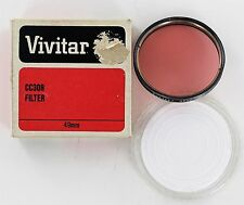 Vivitar 49mm CC30R  compensates for underwater cyan color - New Old Stock