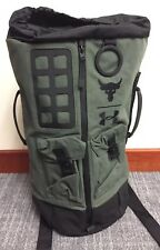 Under Armour UA x Project Rock 60 Green Military Duffle Bag Backpack NWT RARE