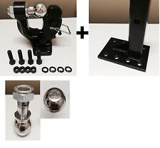 "5 ton PINTLE 2 5/16"" + 2""  Ball + Adjustable receiver BALL HITCH TOWING"