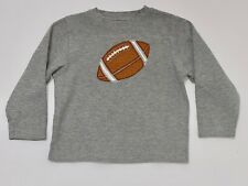 "Gymboree ""All Star Football"" Vintage Football Ribbed Cotton Gray LS Top, 5"