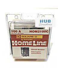 Hom2100 Hom2100c Square D 2pole 100amp 120240v Circuit Breaker New No Box