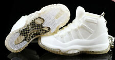 Air Jordan XI 11 All White Silver Anniversary Sneakers Shoes 3D Keychain Figure