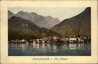 Saint-Gingolph Carte Postale Postcard alte color AK ~1910 Lac Léman Genfersee