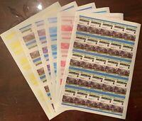 Stamp Grenadines of Saint Vincent Proof Sheets 1961 Locomotive Train Rail MNH