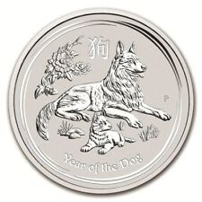 10 Unzen Silber Hund Lunar II 2018 Australien Dog BU