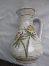 Vintage West Germany Vase # 218-18 CREAM/BROWN WITH HANDLE