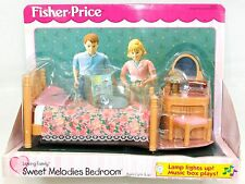2000 Fisher Price Loving Family Sweet Melodies Bedroom #75107 NIP