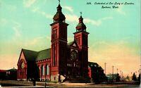 Vtg Postcard 1910s Spokane Washington WA Cathedral at Our Lady of Lourdes UNP
