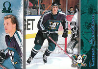 97-98 PACIFIC OMEGA EMERALD GREEN #6 TOMAS SANDSTROM MIGHTY DUCKS *10113