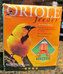 OPUS  Oriole Nectar Feeder - 36 oz. Capacity - Bee Resistant with Ant Moat