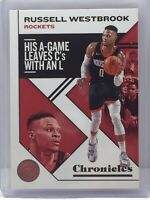 2019-20 Panini Chronicles #45 Russell Westbrook Houston Rockets