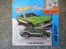 Hot Wheels 2014 #097/250 '70 FORD MUSTANG MACH 1 dark green HW CITY Batch N