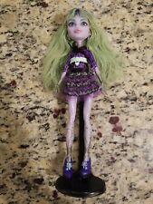 """MONSTER HIGH DOLL ABBEY BOMINABLE WITH STAND 10"""" POSEABLE"""