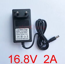EU 16.8V 2A AC/DC Charger Adapter for 4S 18650 Li-ion LiPo Lithium Battery Packs