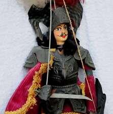 sizilianische Marionette 19.Jhdt. Ritter Puppentheater antik selten aus Sizilien