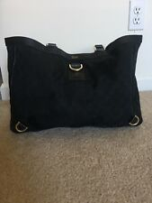 Authentic Gucci Black GG Abbey D-ring Tote Satchel Hobo Guccissima Bag