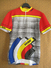 Maillot cycliste LOOK Made in France 80'S Team Sport Jersey Vintage - L