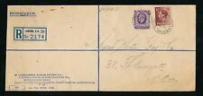RAILWAY 1937 LIVERPOOL ST STATION ENVELOPE + PMKS REGISTERED KG5 + KE8 PERFINS