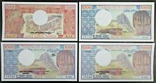 Cameroon Lot of 4 Notes 1978 500 Francs, 1974 1982 & 1984 1000 Francs