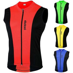 DiDOO Cycling Vest Mens Sleeveless Jersey Racing Gilet Bicycle Top Biking Shirt