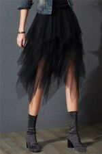 Gonna in tulle asimmetrica midi GOTHIC TUTU tulle multilayer asymmetric skirt