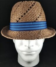 0fb08f91536df LIDS Private Label Straw Trilby with Stripe Band S M Hat NWT