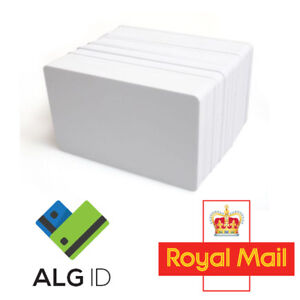 10 Premium Blank White Plastic ID Cards (PVC 760 Microns) - Fast and Free P&P