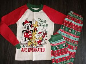 Boys Disney store matching family Christmas pj set size 8