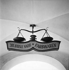 AUTRICHE c. 1960 - Balance Enseigne Farwaren Feldkirch - Négatif 6 x 6 - Aut 19