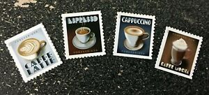 2021USA #5569-5572 Forever Espresso Drinks - Set of 4 Singles  Mint  coffee