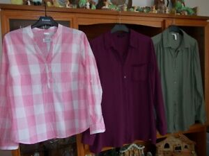 3 Ladies Blouses in size 14 by M & S/ H & M