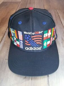 Vintage Adidas World Cup USA 94 Commemorative Soccer Snapback Hat Cap - Clean