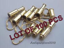 Vintage Telescope Key Chain Solid Brass Nautical Handmade Lot Of 100 Pcs Gift...
