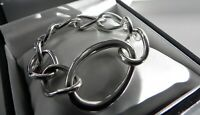 Unusual CHIC 🌠 50g solid sterling silver 925 stamped large curb ring bracelet