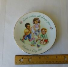 Vintage Mothers Day Avon Collectible Plate 1991 Love Makes All Things Grow