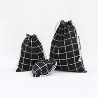 Cute print cotton linen dust bag Clothes socks underwear shoes receive bag