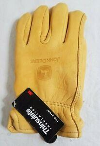 NWT JOHN DEERE TY25391 Large Deerskin LEATHER Work Gloves w THINSULATE NEW