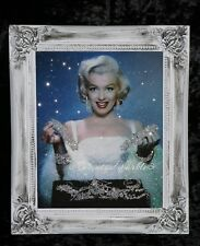 Marilyn Monroe Glitter Canvas Picture Shabby Chic frame , Wall Art.