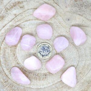 10 x Large Rose Quartz Crystals Tumblestones Seconds 101g-114g Reiki Healing