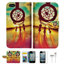Dream Catcher Wallet Case Cover For Apple iPhone 4 4S -- A008