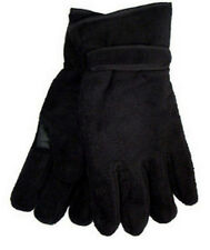 Mens Polar Fleece Gloves Thinsulate Thermal Lining 3M Winter Black Size M/L