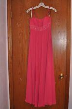 David's Bridal Bridesmaid/Prom/Homecoming/Formal Dress F12495 Watermelon Sz 4