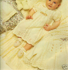 Baby's  6 piece  KNITTED  LAYETTE.. PATTERN. ONLY
