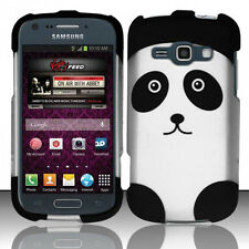 """Samsung Galaxy Ring M840 / """"Prevail 2"""" Rubberized HARD Phone Case Cover Panda"""