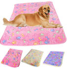 Warm Pet Mat Small Large Paw Print Cat Dog Puppy Fleece Soft Blanket Cushion