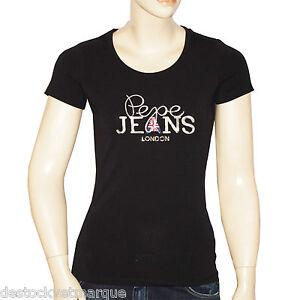 PEPE JEANS LONDON Tee shirt  femme ELAINE noir taille XS