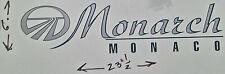 MONARCH MONACO RV MOTORHOME CAMPER LOGO DECAL LEGEND GREEN SILVER 23X6 GRAPHIC