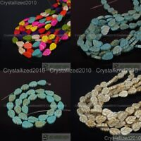 White Blue Mixed Howlite Turquoise 9mm x 13mm Lovely Leaf Spacer Loose Beads 16""